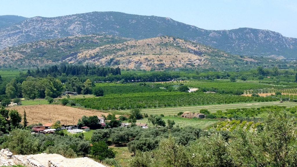 View of the agricultural around Selcuk, taken from the castle,